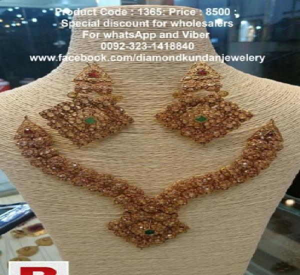Party wear jewellery set in stunning design with 24 carat 0