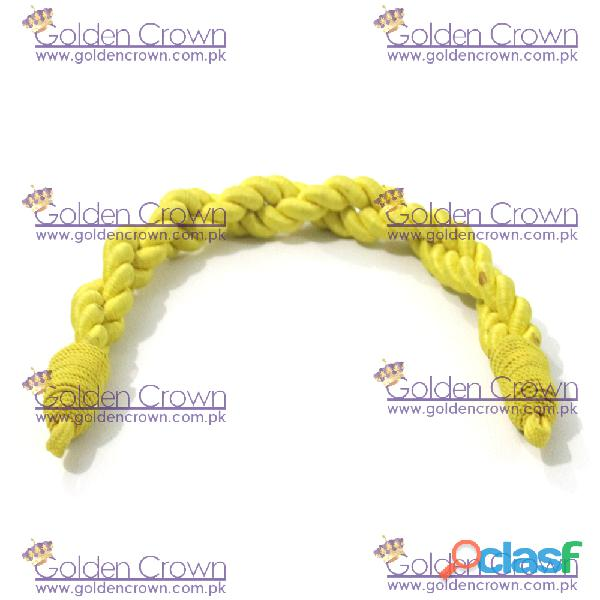 Military Silk Cap Cord Yellow 3
