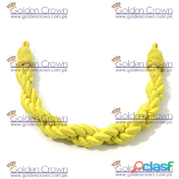 Military Silk Cap Cord Yellow 7