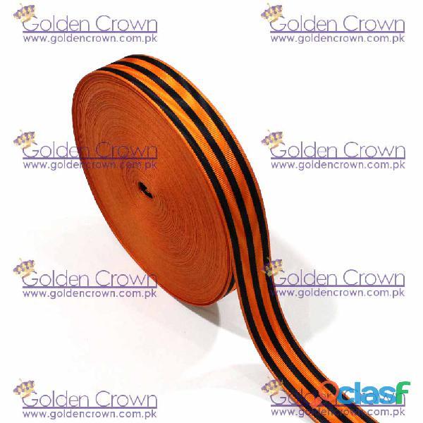 Medal Ribbon Orange And Black 0