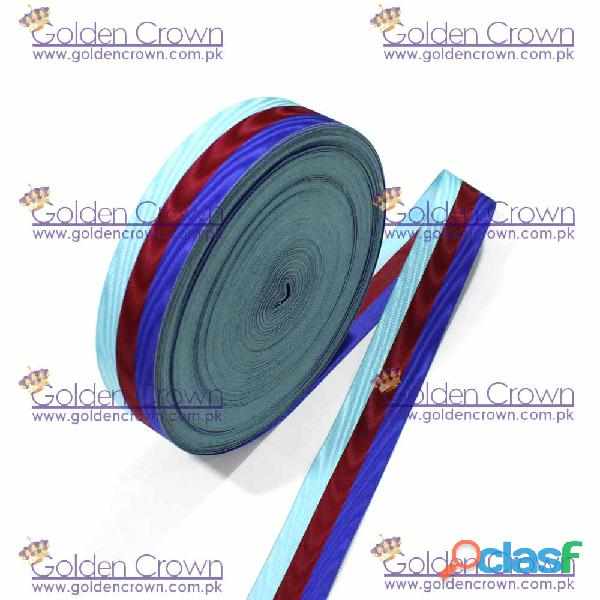 Moire Medal Ribbon Red , Blue And Sky 4