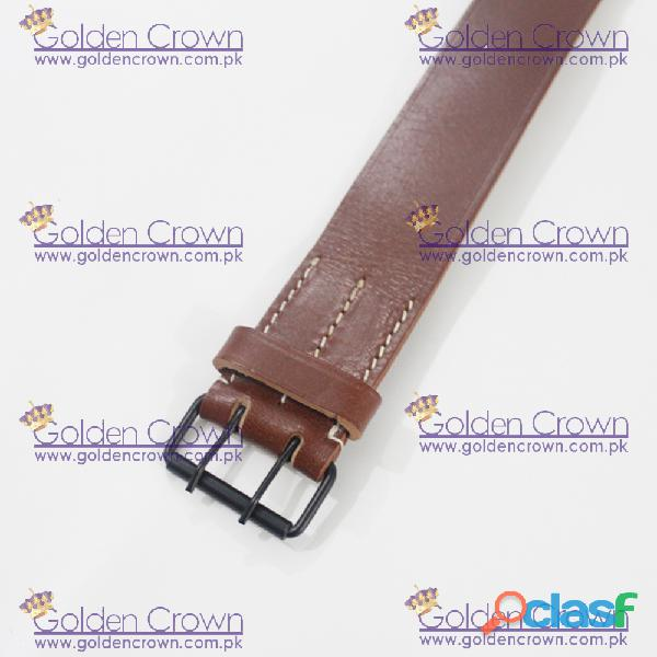 WWI French Brown Leather Field Equipment Belt 2