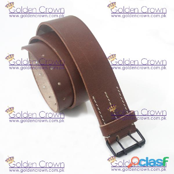 WWI French Brown Leather Field Equipment Belt 3