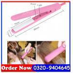 Mini Hair Straightener Iron Pink Ceramic Electronic, Lahore 0