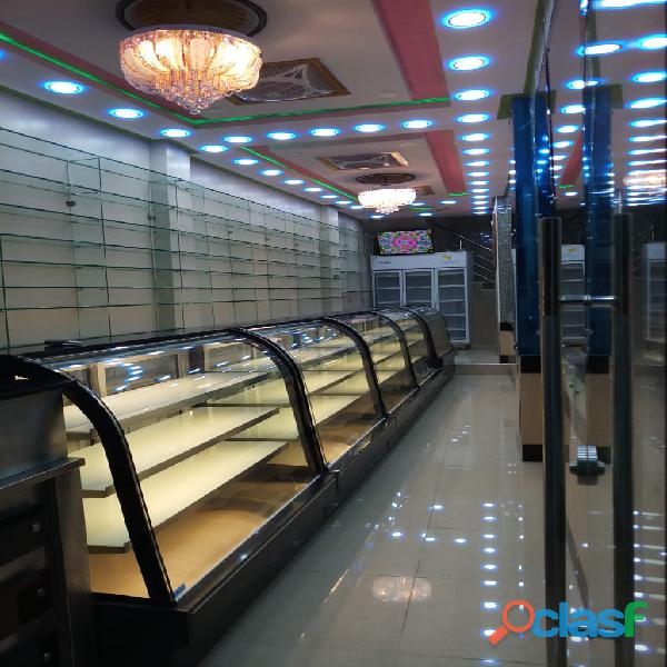 Bakery display chiller, cake counter, cake chiller, bakery counter