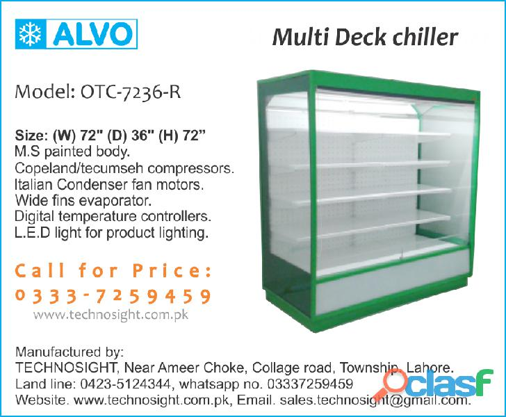 Multi deck chiller, multi deck fridge sale in pakistan, vertical chiller, open display chiller