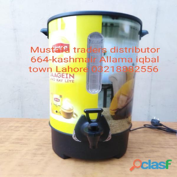 Lipton tapal vital and mezan tea (water boiler ) mustafa traders in pakistan