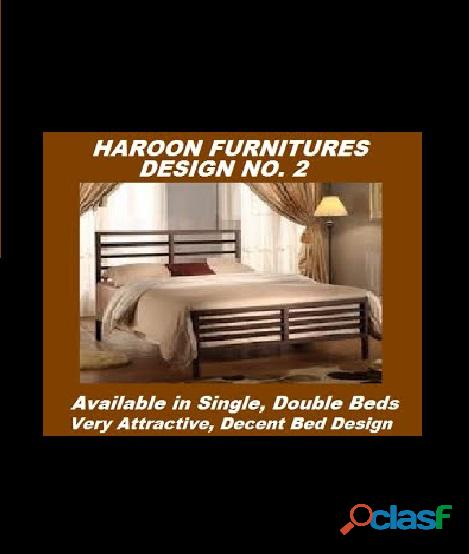 Haroon furnitures offers good looking single steel beds in variety of sizes