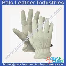 Leather working gloves work