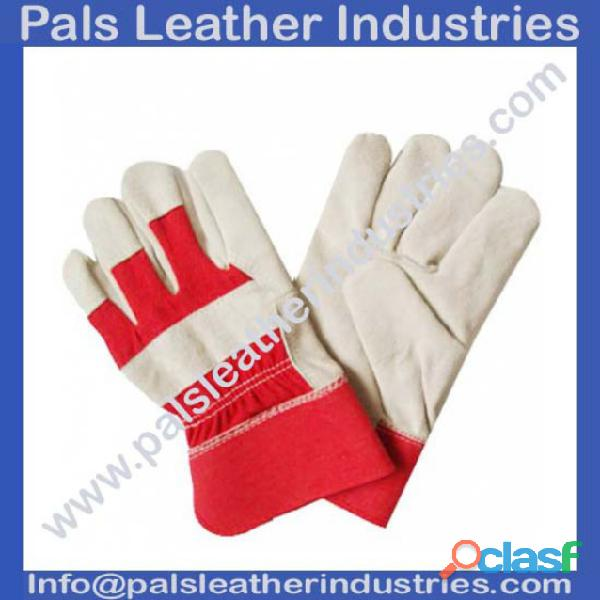 Working Gloves Red & Half White supplier