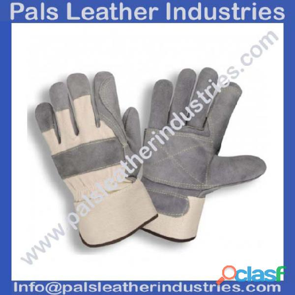 Men leather working gloves supplier