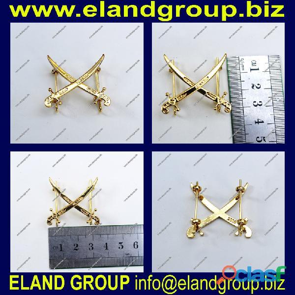Metal crose sword badge