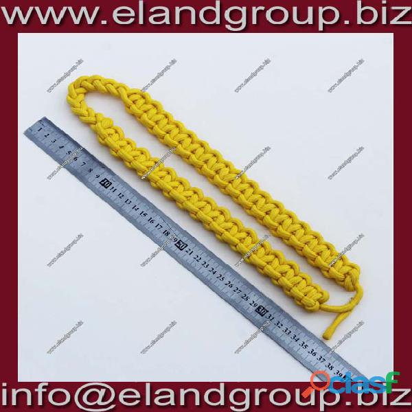 Army Shoulder Cord Interwoven One Color Gold