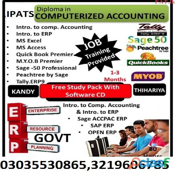Quickbooks PT,Talley ERP Diploma Sage 50 Accounting softwaresO3O3553O865 IPATS 2