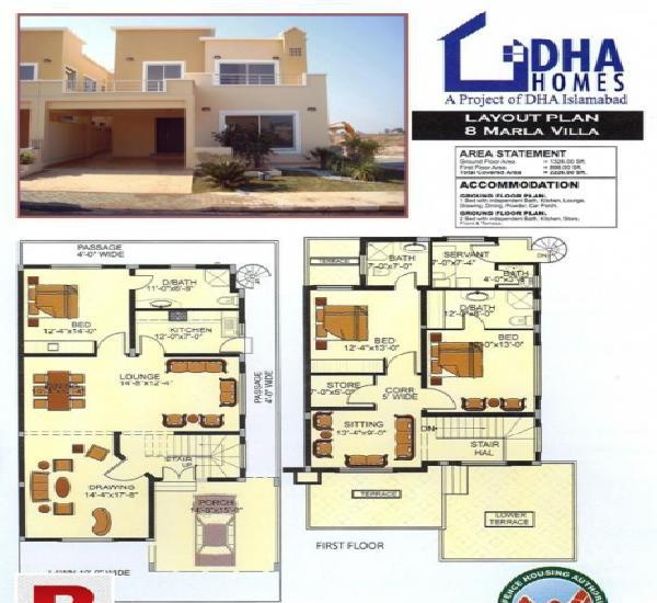 08 marla double story house for sale in dha islamabad (dha