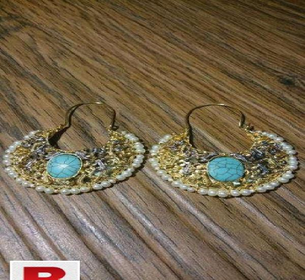 24 carat solid gold plated earrings set in beautiful design
