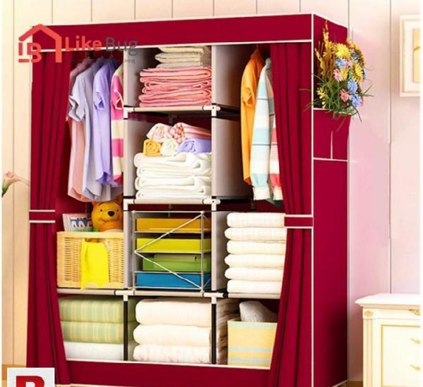 3 Door Almirah furniture, prepare an area to work The room