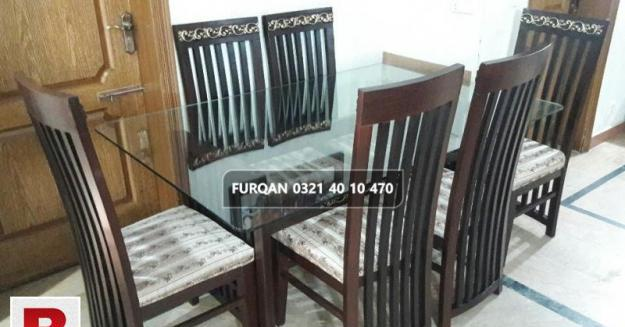 6 six seater glass dinning table 12mm
