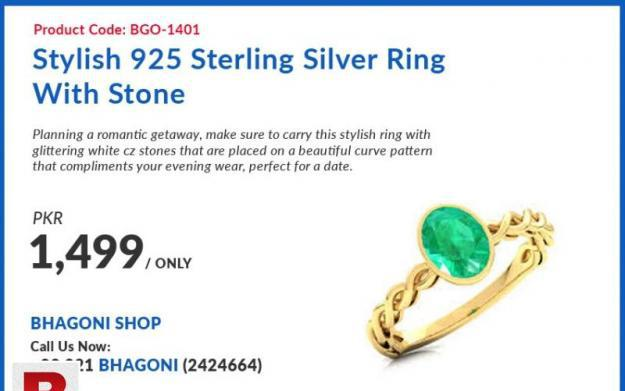 925 sterling silver fancy ring bracelet style with green