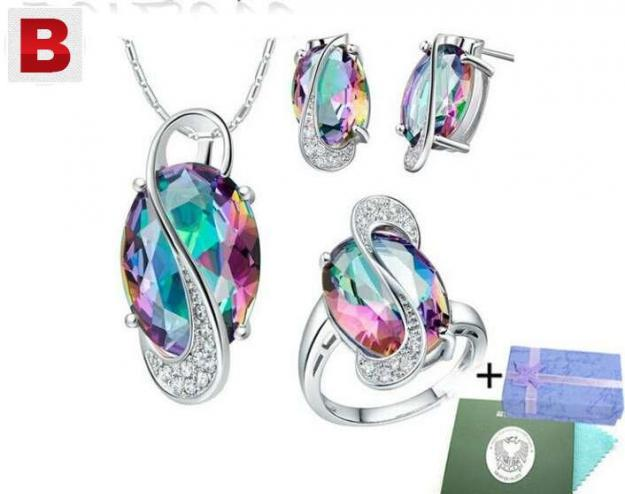 925 sterling silver jewelry set with ring