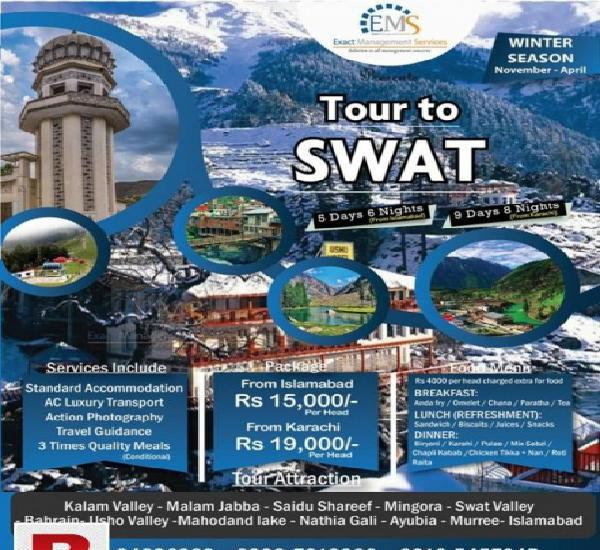 9days winter tour to swat valley! from karachi