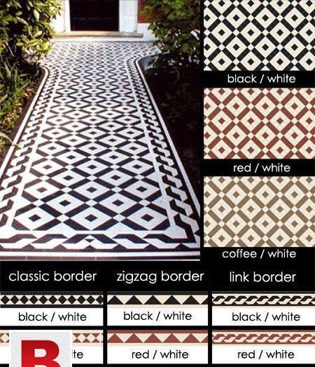 Antique flooring tiles