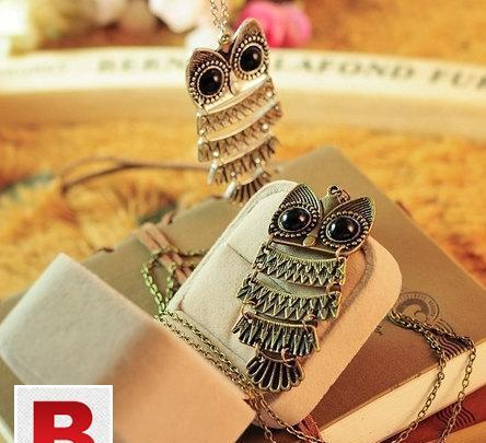 Antique vintage owl necklace