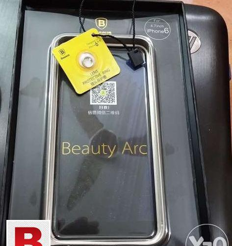 Baseus arc aluminum metal bumper case iphone 6 with lens