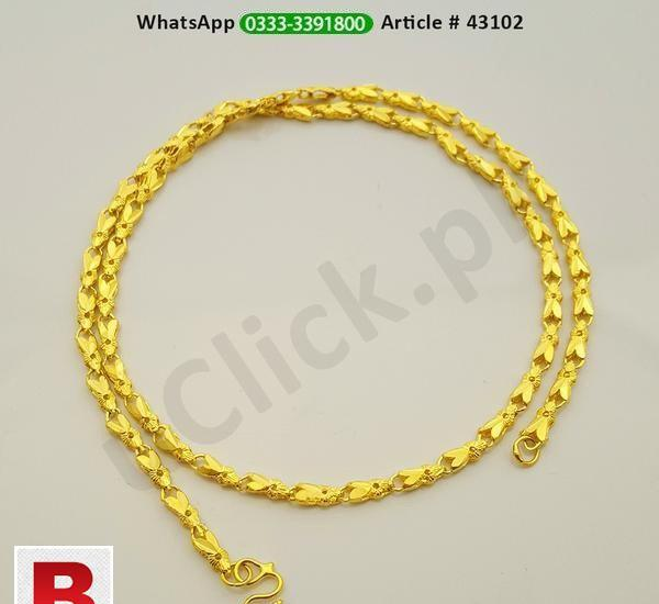 Beautiful design trendy gold plated chain