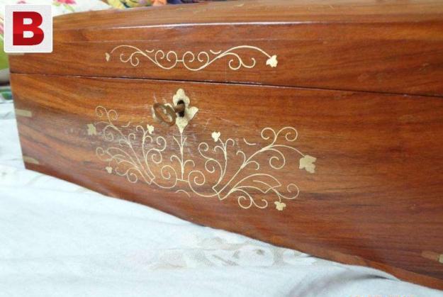 Beautiful wooden jewellery box.