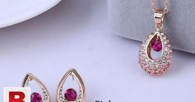 Bridal jewelry sets hot sale classic white/ gold plated