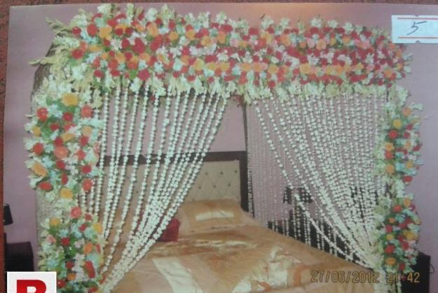 Bridal wedding bedroom decoration ideas with flower service
