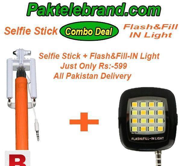 Combo deal selfie+ selfie flash light for smart phones