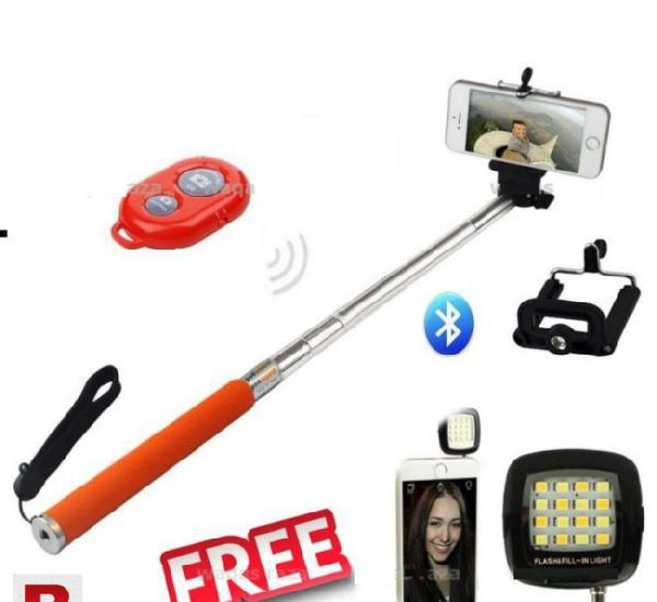 Combo of selfie stick & selfie flash light