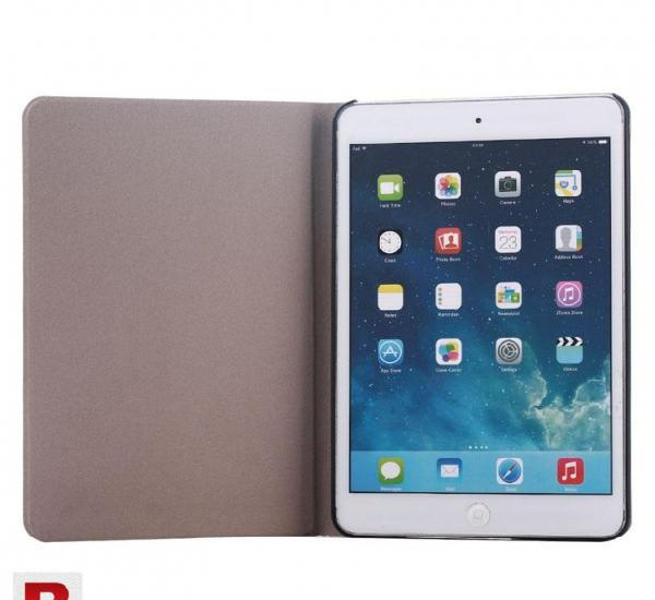 Design white carved flip stand leather case cover for ipad