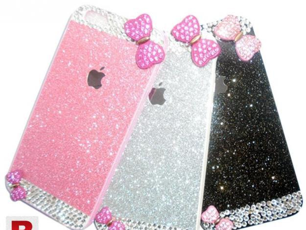Diamond glitter back cover with butterfly for iphone