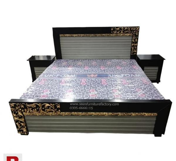 Double bed lover black and greay