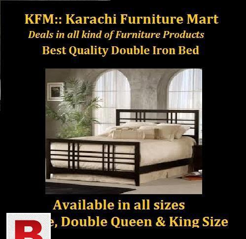 Double iron bed in reasonable price of rs. 12000 by karachi
