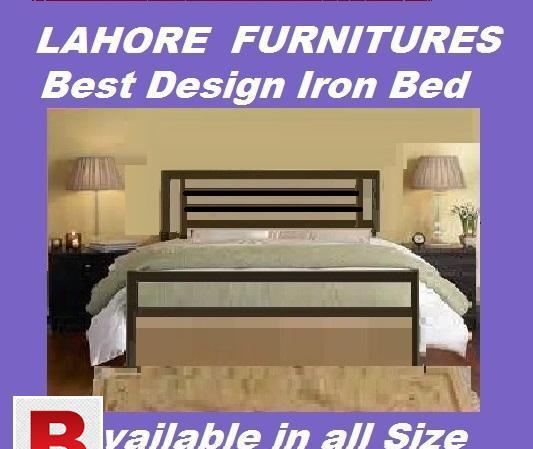Double iron bed with side tables cash on delivery instant