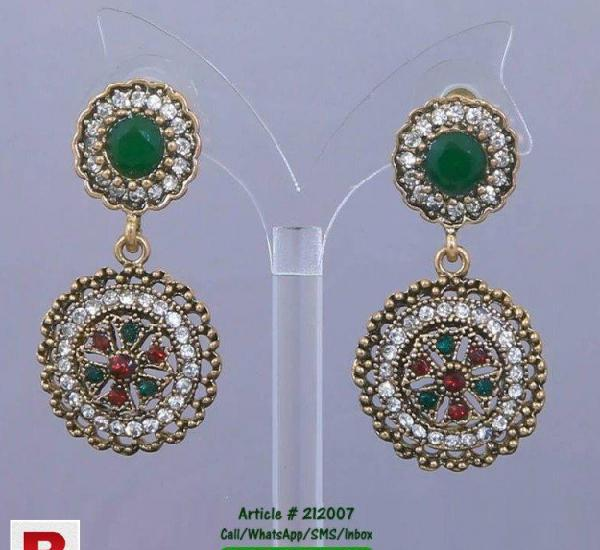 Ear rings imported, multi color with red and green stones