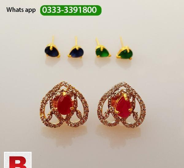 Ear tops with 3 changeable colors