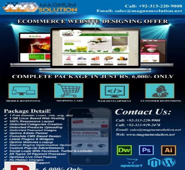 Ecommerce website designing offer for limited time!
