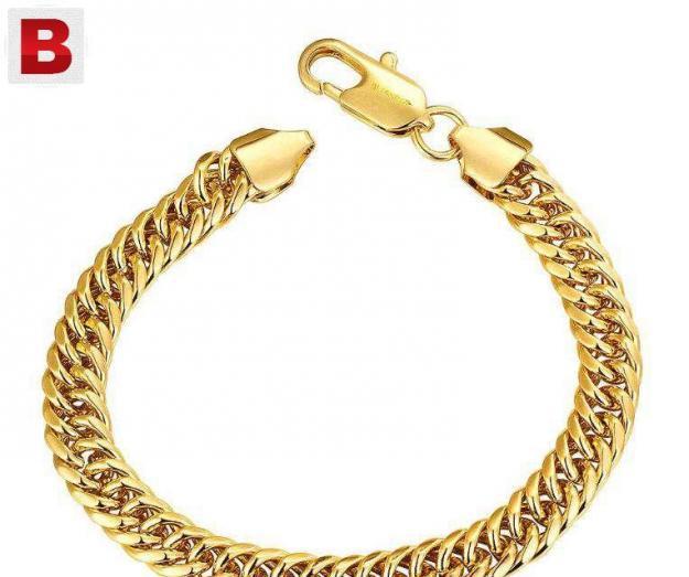 Gents bracelet (gold plated)