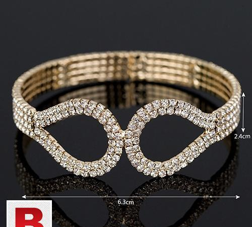 Gold color austrian crystal bracelets & bangle for women