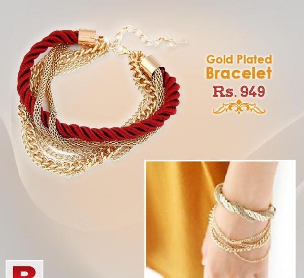 Gold plated bracelet by dealsouk
