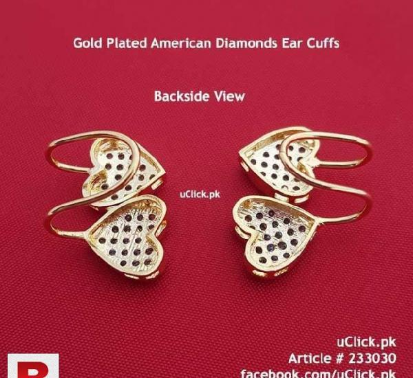 Gold plated heart shape earcuff