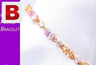 Gold plated sterling zirconia bracelet