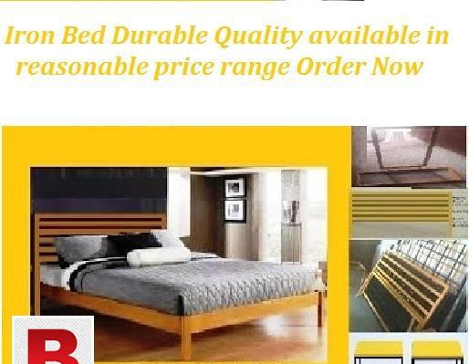 Good looking double iron bed in reasonable price of rs 12000
