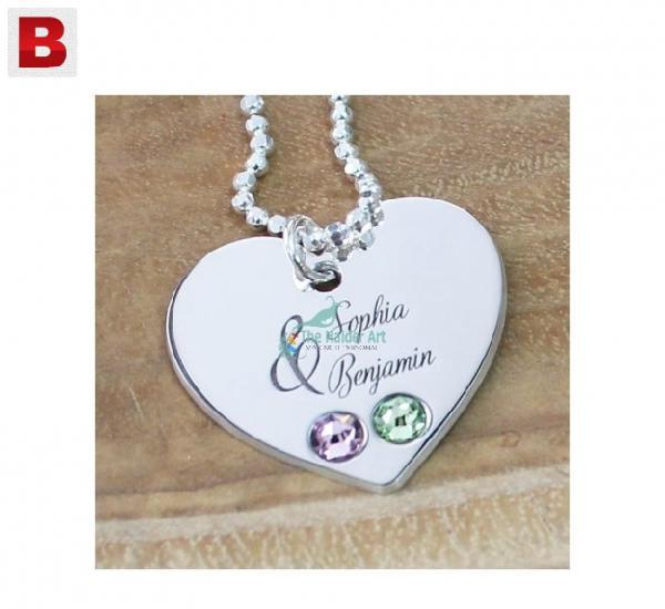 Heart necklace, name necklace, personal necklace, gift for