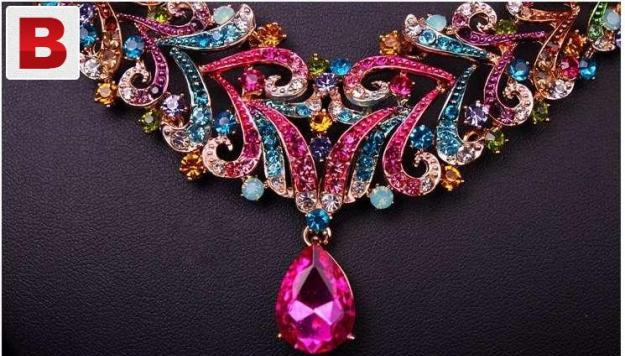 High quality multi colored jewelry set